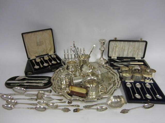 A George V silver salver Sheffield 1910