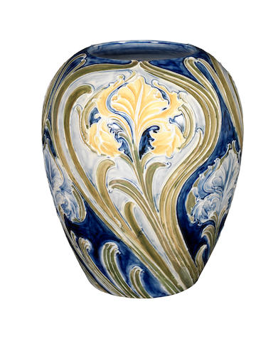 William Moorcroft 'Iris' a Large Florian Vase, circa 1902