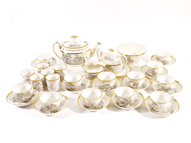 A Spode part tea and coffee service, circa 1810