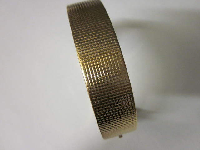 A French gold bangle,