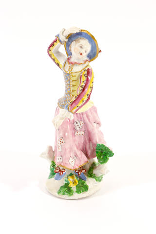 A Bow figure of Columbine, circa 1760