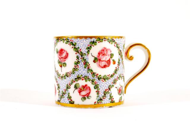 A Sèvres coffee can, circa 1775