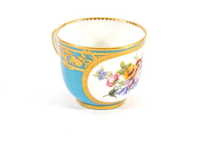 A Sèvres blue-ground cup, circa 1780