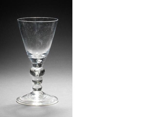 A fine heavy baluster goblet, circa 1710