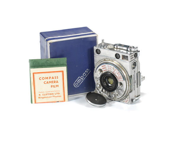 A Compass pocket camera, by LeCoultre & Cie, Swiss, circa 1940,
