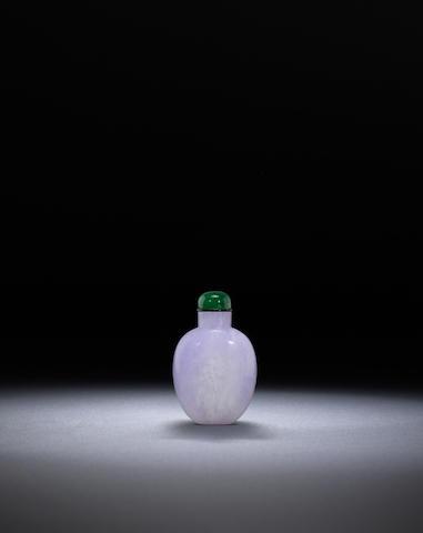 A lavender blue jadeite snuff bottle Mid Qing dynasty