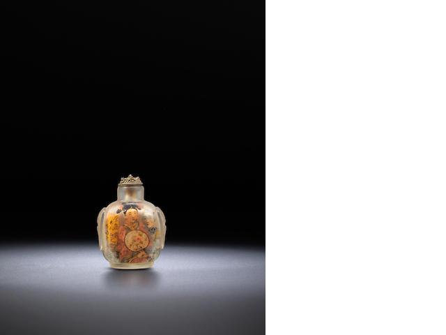 An inside-painted glass 'opera singers' snuff bottles 1850-1900