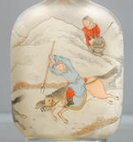 An inside-painted glass 'equestrian hunters' snuff bottle Ye Zhongsan, dated 1904