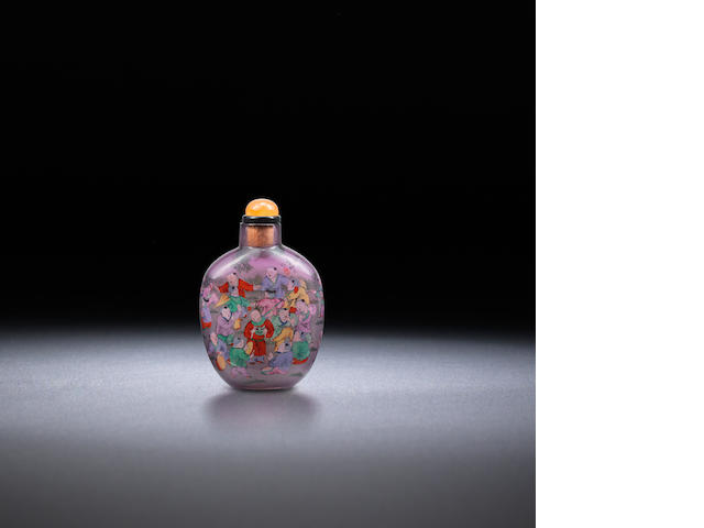 An inside-painted glass 'hundred boys' snuff bottle Ye Zhongsan, dated 1926