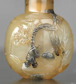 An carved agate 'lantern festival' snuff bottle Suzhou, Qing dynasty, 1770-1860