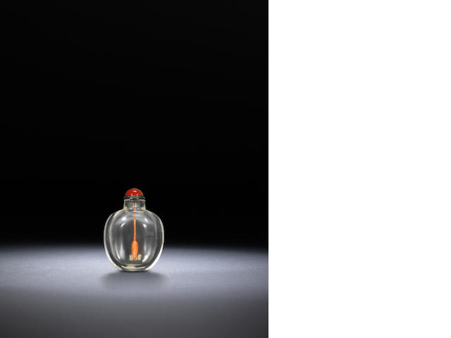 A rock-crystal snuff bottle Qing dynasty, 1730-1870