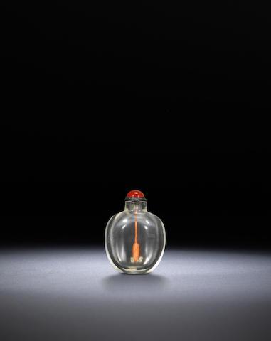 A rock-crystal snuff bottle Qing dynasty, 1730-1870