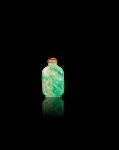 A jadeite snuff bottle Qing dynasty, 1770-1860
