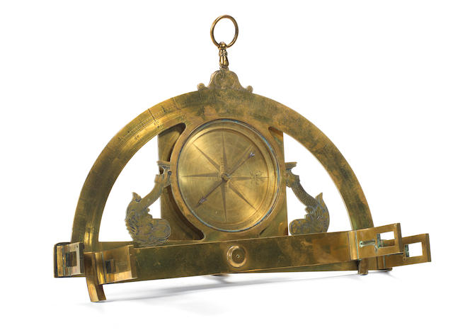A Le Maire brass graphometer, French, late 18th century