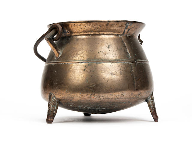 A bronze cauldron, English Probably 16th/17th Century