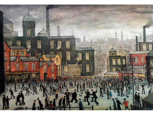 Laurence Stephen Lowry R.A. (British, 1887-1976) 'Our Town'