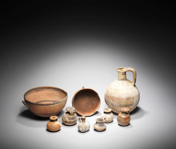 Nine Cypriot and Corinthian pottery vessels 9