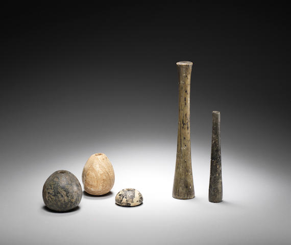 Five Egyptian Predynastic stone implements 5