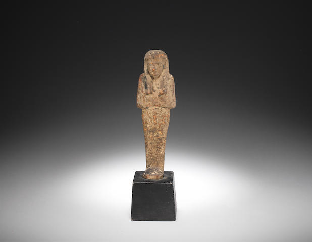 An Egyptian wood shabti