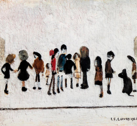 Laurence Stephen Lowry R.A. (British, 1887-1976) 'Group of Children'