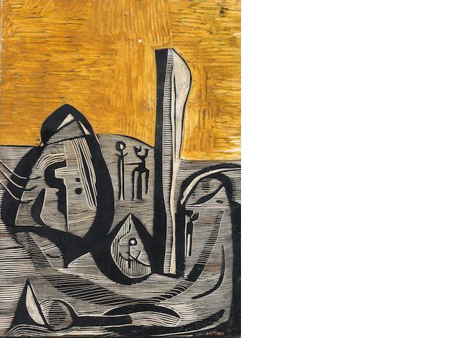 Cecil Edwin Frans Skotnes (South African, 1926-2009) Landscape no.1