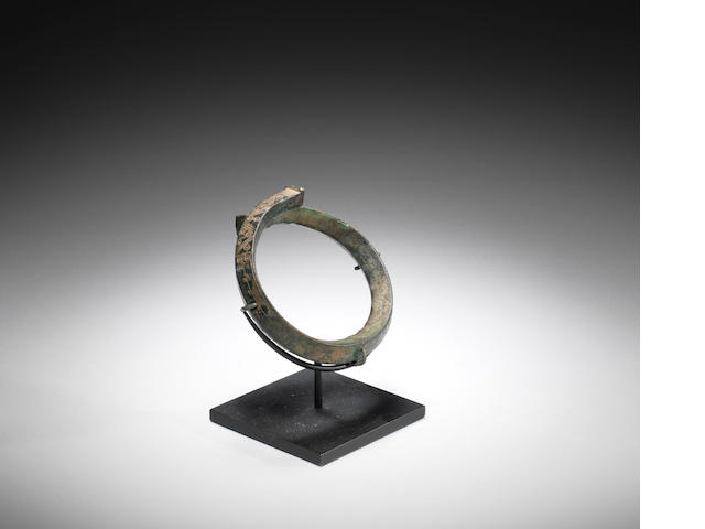 A Greek Geometric bronze bracelet