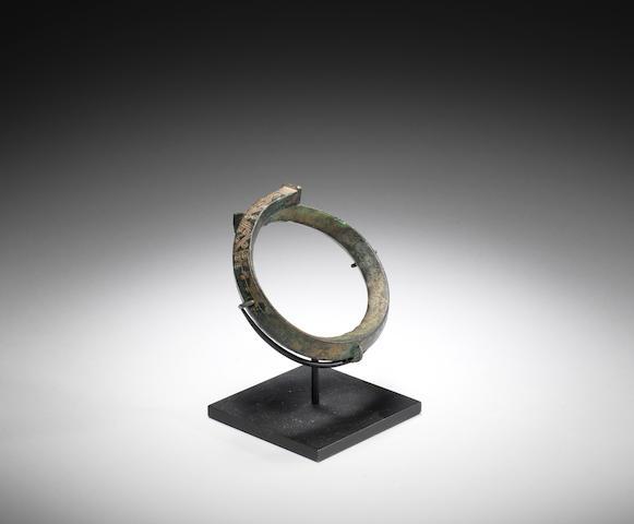 A Greek Geometric bronze bracelet