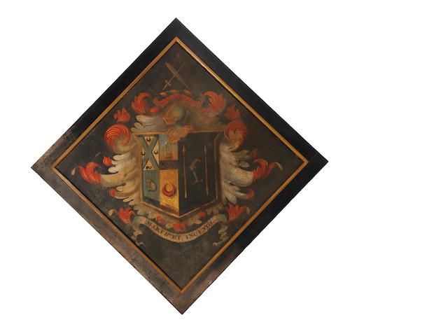A late Regency painted armorial hatchment