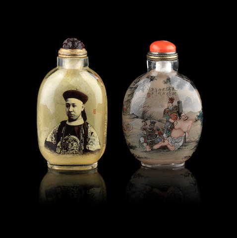 Two inside-painted snuff bottles
