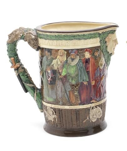 Doulton Burslem 'William Shakespeare' a Commemorative Jug, 1933