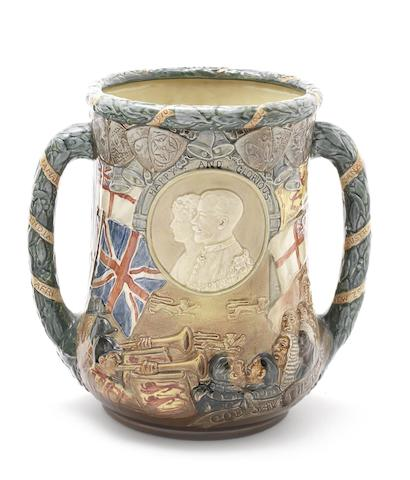 Doulton Burslem 'Silver Jubilee George V and Mary' (Uncrowned) a Loving Cup, 1935