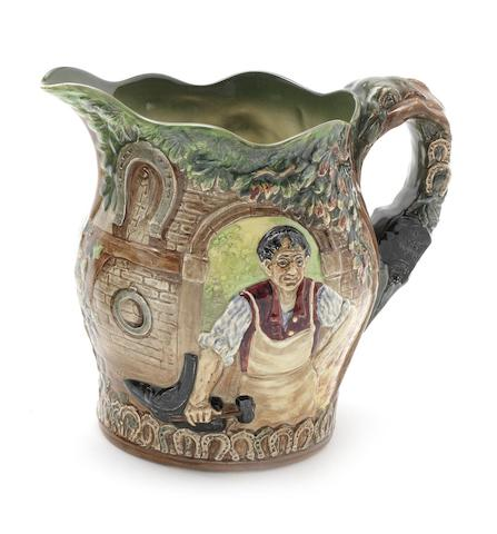 Doulton Burslem 'The Village Blacksmith' a Commemorative Jug, 1936