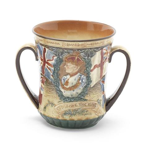 Doulton Burslem 'Coronation of Edward VIII' a Small Size Loving Cup (Welsh Edition), 1937
