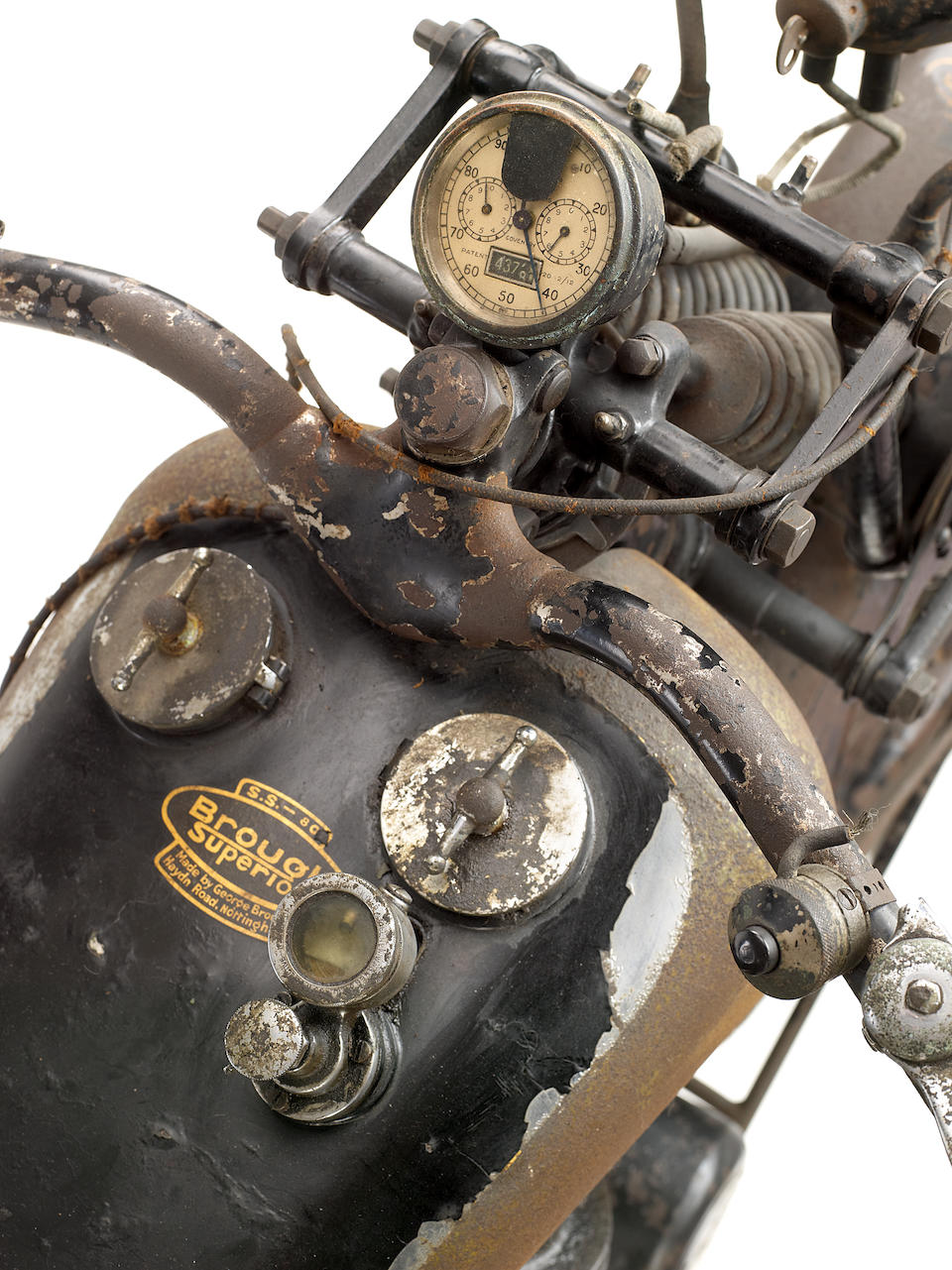 Single family ownership from new,1925 Brough Superior 981cc SS80 Frame no. 321 Engine no. 36431