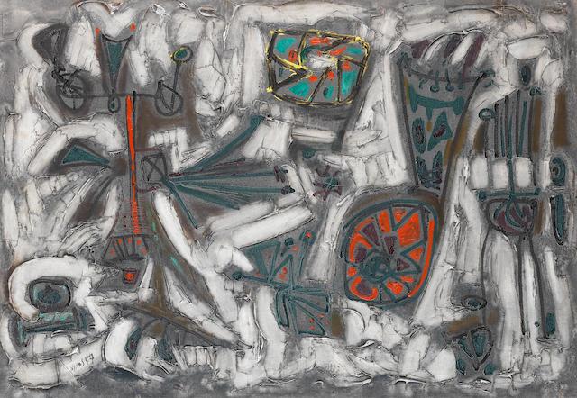 Nikos Kessanlis (Greek, 1930-2004) Fiori 100 x 69 cm.