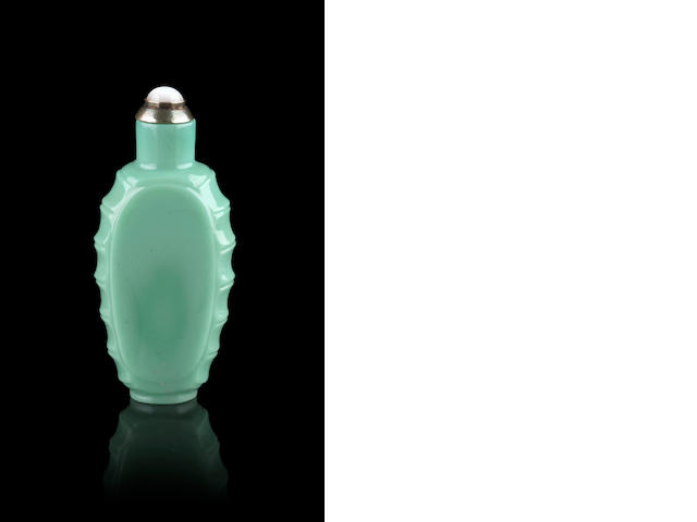 A turquoise glass snuff bottle