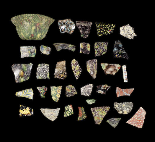 A group of Roman  mosaic glass fragments (approx 33)