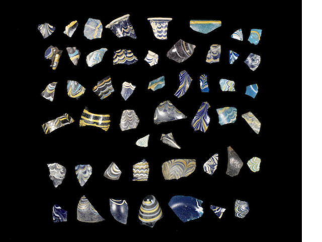 A group of core-formed fragments (approx 50)