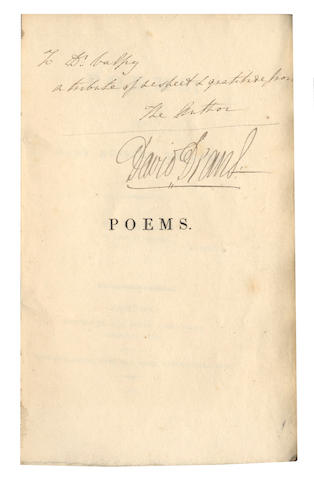 "MITFORD (MARY RUSSELL) Poems, FIRST EDITION, AUTHOR'S PRESENTATION COPY inscribed ""To Dr. Valpy, a tribute of respect & gratitude from the author"" on half-title, 1810"