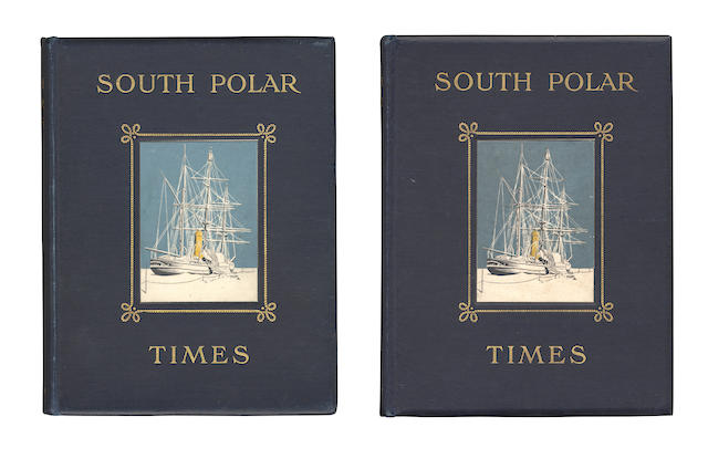 SOUTH POLAR TIMES SHACKLETON (ERNEST HENRY), LOUIS C. BERNACCHI and APSLEY CHERRY-GARRARD, editors. South Polar Times, 2 vol. only, PRESENTATION COPY TO REGINALD KOETTLITZ, LIMITED EDITIONS, Smith, Elder & Co., 1907