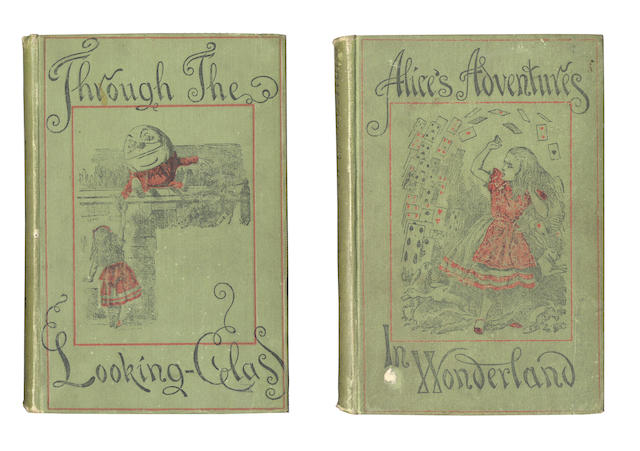 "DISCOVERY LIBRARY [DODGSON (CHARLES LUTWIDGE)] ""Lewis Carroll"" Alice's Adventures in Wonderland, 1899; Through the Looking Glass and What Alice Found There, 1901, Macmillan (2)"