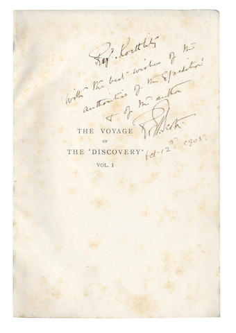 SCOTT (ROBERT FALCON) The Voyage of the Discovery, 2 vol. AUTHOR'S PRESENTATION COPY TO REGINALD KOETTLITZ, Smith Elder, 1905