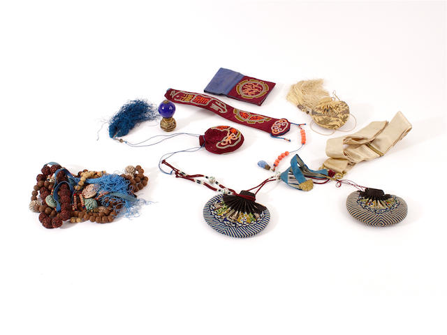 A group of Chinese dress accessories