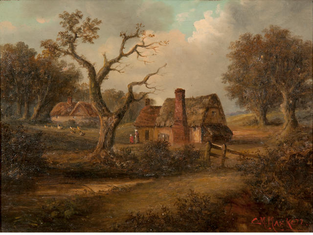 Christopher Mark Maskell (1846-1933) Cottages in a landscape; A pair