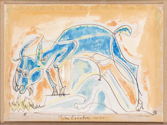 John Craxton R.A. (British, 1922-2009) Goat 21.1 x 28.7 cm. (8 1/4 x 11 1/4 in.)