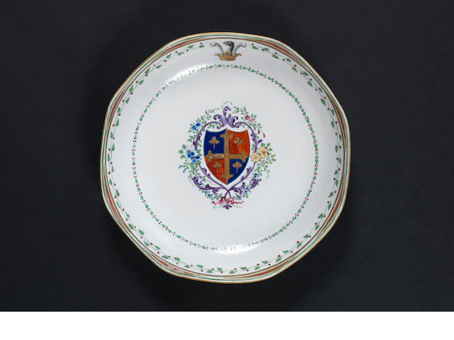 famille rose armorial dish (rest to come)