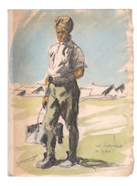 WORLD WAR I. JONAS (LUCIEN) [Carnets de croquis de guerre], 10 vol., with original watercolours, 1915-1919