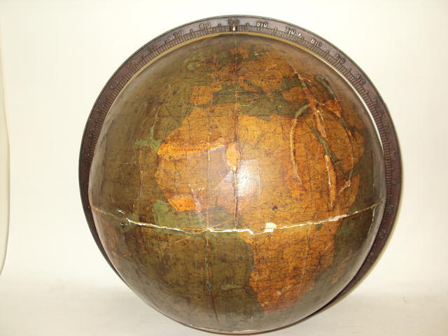 A late 19th century terrestrial globe by W. & A.K. Johnston