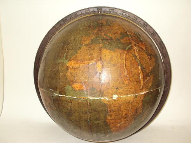 A late 19th century terrestrial globe by W. & A.K. Johnston