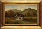 English School, late 19th/early 20th Century Mountainous river landscape
